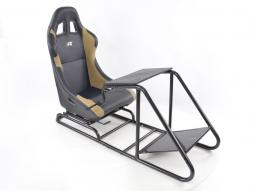 Game Seat for PC and Games console Leatherette black/beige