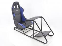 Game Seat for PC and Games console Leatherette black/blue