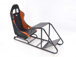 Game Seat for PC and Games console fabric black/orange