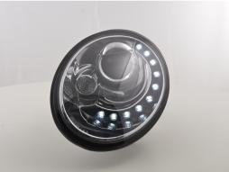 FK Scheinwerfer Daylight VW New Beetle ab Bj. 2006 chrom mit LED Standlichtleiste