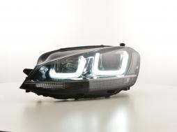 Tagfahrlicht Scheinwerfer Daylight VW Golf 7 Bj. ab 2012 schwarz/chrom