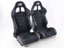 Sportseat Set Seattle artificial leather black