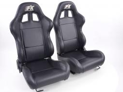 Sportseat Set Boston artificial leather black