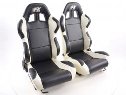 Sportseat Set Boston artificial leather black/white