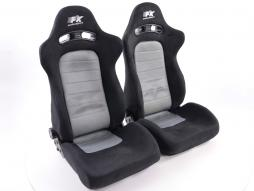 Sportseat Set Chicago fabric grey/black