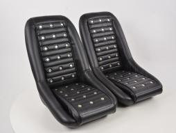 Sportseat Set Classic 1 artificial leather black with headrest