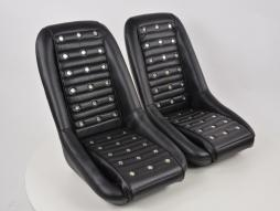Sportseat Set Classic 1 artificial leather black without headrest