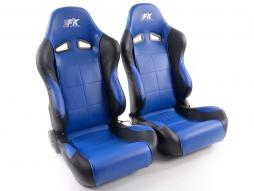 Sportseat Set Comfort artificial leather blue/black