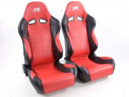 Sportseat Set Comfort artificial leather red /black