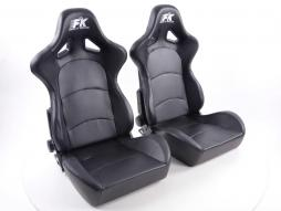 Sportseat Set Control artificial leather black