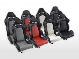 Sportseat Set Detroit artificial leather  black