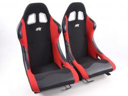 Sportseat Set Los Angeles fabric black/red /