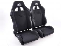 Sportseat Set Racecar fabric black