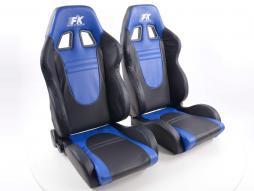 FK Sportsitze Auto Halbschalensitze Set Racecar in Motorsport-Optik