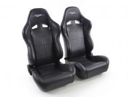 siège baquet SCE-Sportive 2-modèle (gauche+droite) noir