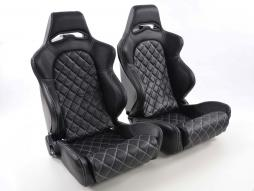Sportseat Set Las Vegas artificial leather black back made of GFK