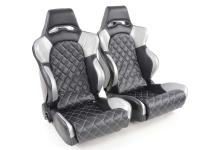 FK Sportseat Auto Half bucket seats Set Las Vegas in Motorsport-look
