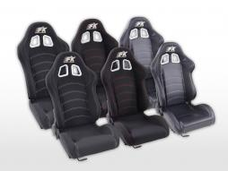 Sportseat Set Seattle fabric black seam white