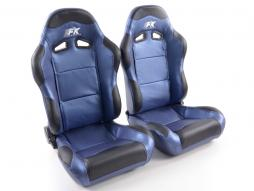 Sportseat Set Spacelook Carbon artificial leather Blue