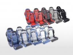 coppia di sedili Spacelook carbonio (1xsinistra+1xdestra) grigio/blu