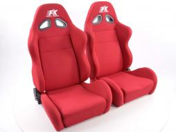 FK Sportsitze Auto Halbschalensitze Set Sport in Motorsport-Optik