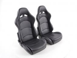 FK Sportseat Auto Half bucket seats Set with shell made of carbon