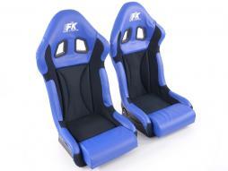 FK sedile sportivi Auto guscio pieno coppia Race 1 con copertura lucida in fibra