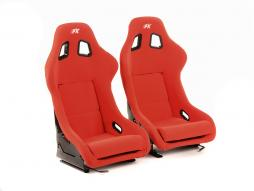 FK sport seats full bucket seats Set Düsseldorf textile red