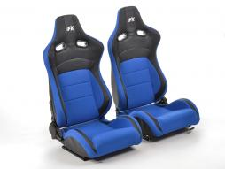 FK sport seats half bucket seats Set Köln artificial leather/textile black/blue