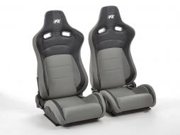 FK sport seats half bucket seats Set Köln artificial leather/textile black/grey