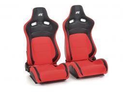 FK sedili sportivi sedili di due pezzi Set Köln in pelle artificiale/Stoff nero/rosso