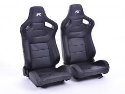 FK sedili sportivi sedili di due pezzi Set Köln in pelle artificiale nero Carbon-Look
