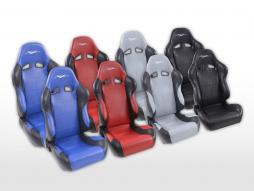 Sportseat Set SCE-Sportive 2 artificial leather grey/black