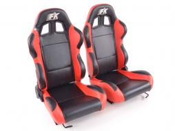 FK Sportsitze Auto Halbschalensitze Set Boston in Motorsport-Optik