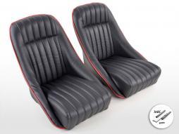 sedile sportivo sedile secchio pieno coppia destra + sinistra nero nero/rosso tra cui binari