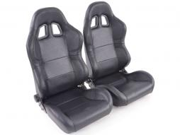 Sportseat Set Charleston artificial leather black - used, second hand article with errors