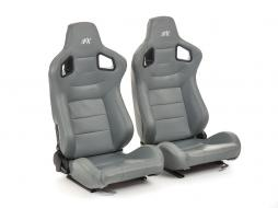 FK sport seats half bucket seats Set Stuttgart artificial leather grey