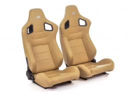 FK sport seats half bucket seats Set Stuttgart artificial leather beige