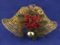 Weihnachtsbeleuchtung Glocken, gold