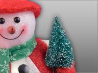 Weihnachtsbeleuchtung Schneemann, rot