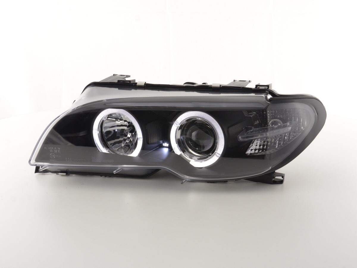 tuning shop scheinwerfer bmw 3er e46 coupe cabrio bj 03 05 xenon schwarz online kaufen. Black Bedroom Furniture Sets. Home Design Ideas