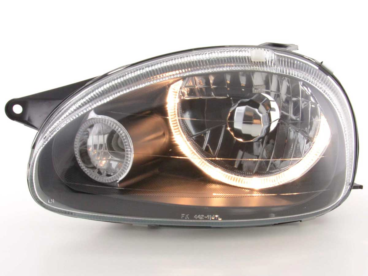 fk automotive tuning shop angel eye headlight opel corsa. Black Bedroom Furniture Sets. Home Design Ideas