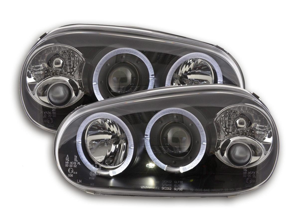 tuning shop scheinwerfer vw golf 4 typ 1j bj 98 03 schwarz online kaufen. Black Bedroom Furniture Sets. Home Design Ideas