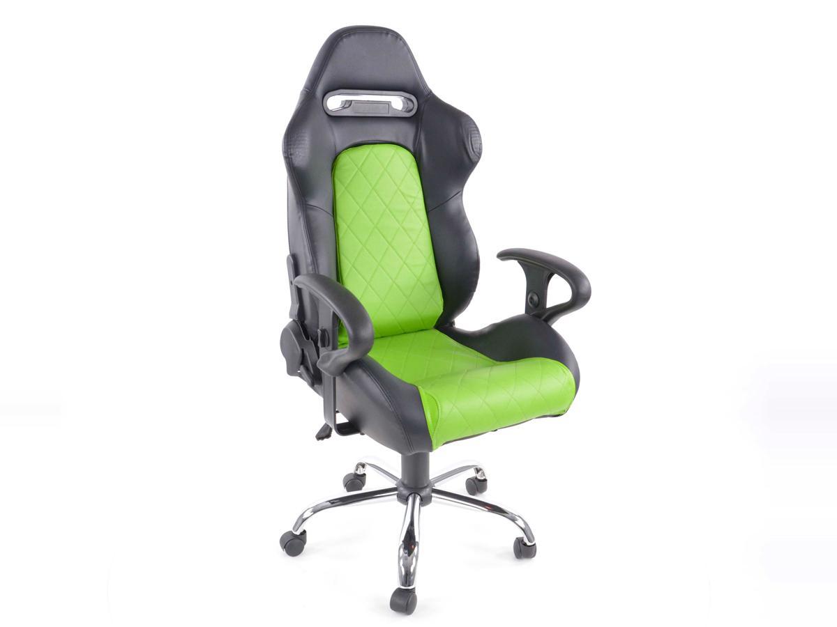 Sedile Sportivo Ufficio.Sedia Da Ufficio Sedile Sportivo Detroit Con Braccioli In Similpelle Nero Verde
