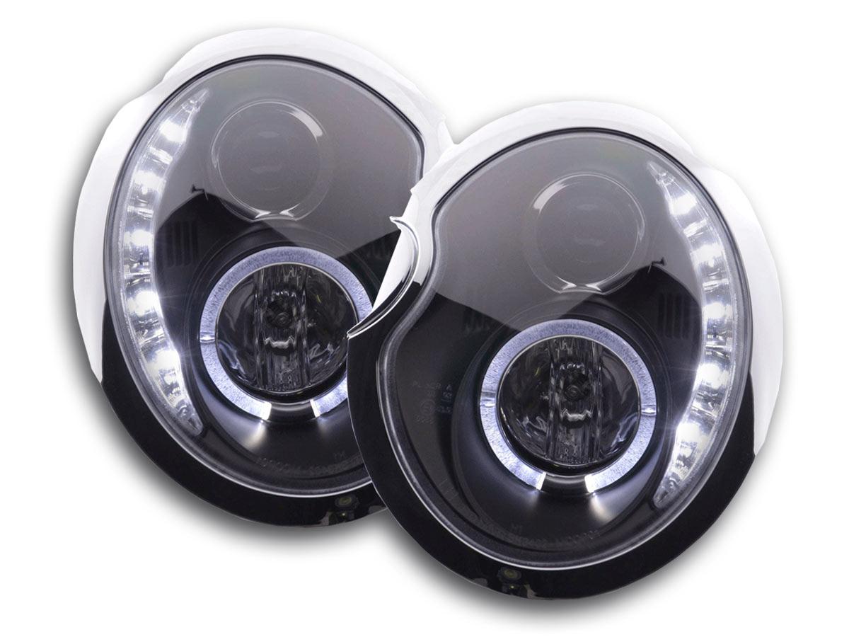 tuning shop phares daylight pour mini cooper type r50 an 01 06 noir online acheter. Black Bedroom Furniture Sets. Home Design Ideas