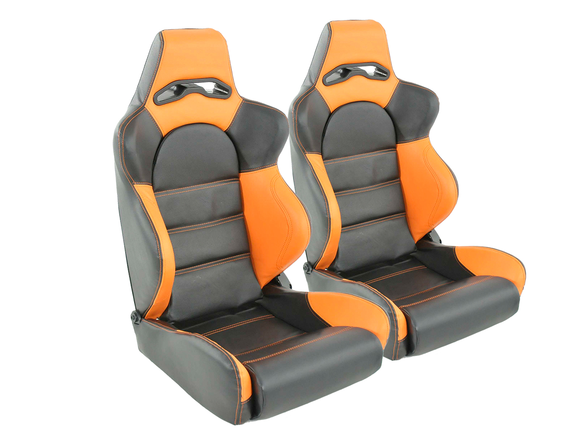 tuning shop siege baquet set edition 1 1xgauche 1xdroit noir orange online acheter. Black Bedroom Furniture Sets. Home Design Ideas