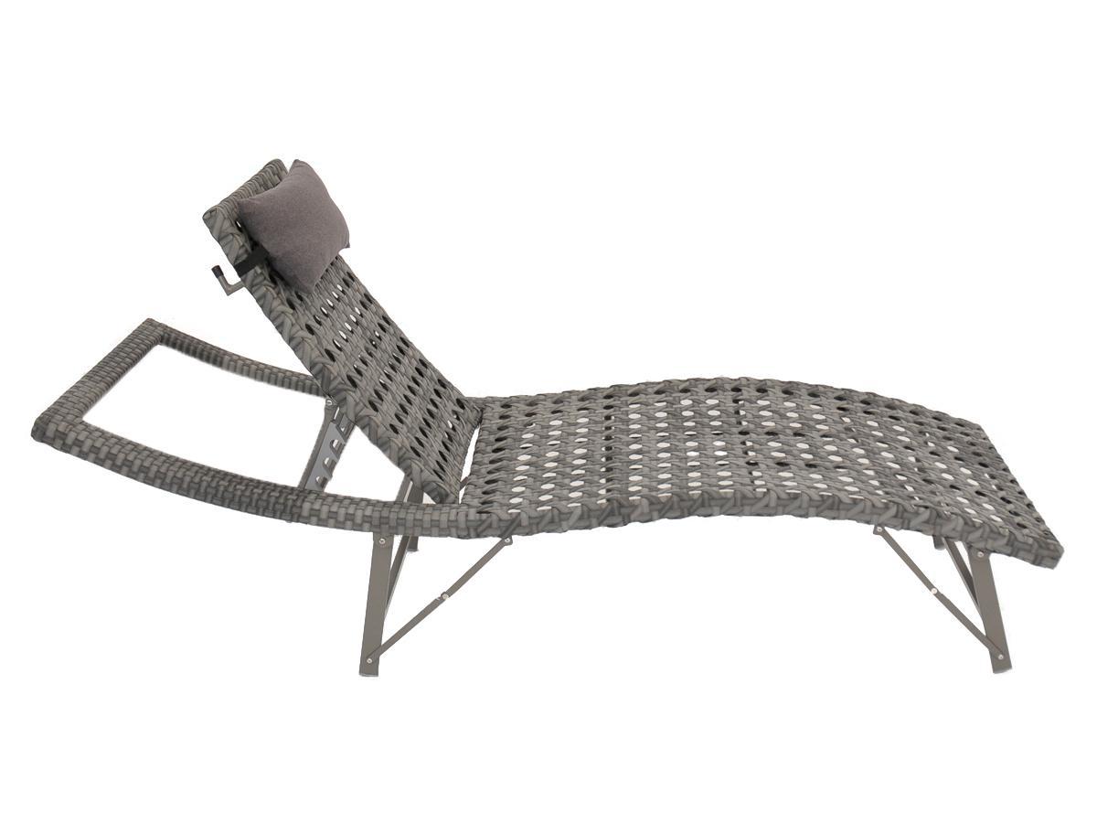 tuning shop sonnenliege aus polyrattan inkl kopfkissen online kaufen. Black Bedroom Furniture Sets. Home Design Ideas