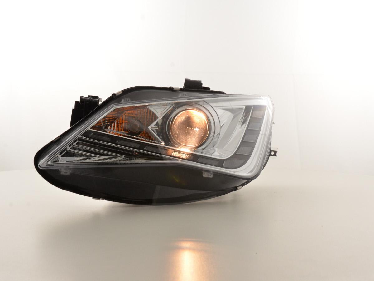 Scheinwerfer links für Seat Ibiza V 6J 12-15 Chrom Twin Sport H7 Hauptscheinwerf