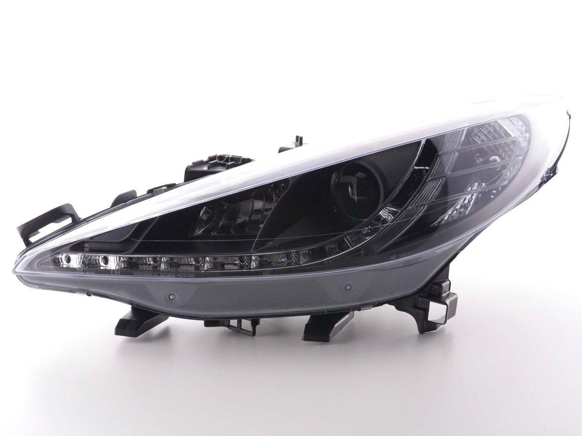 tuning shop scheinwerfer daylight peugeot 207 bj 06 schwarz online kaufen. Black Bedroom Furniture Sets. Home Design Ideas