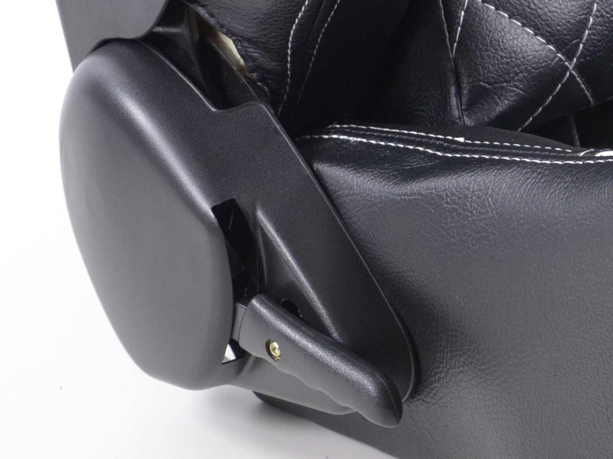 tuning shop siege baquet gauche droit similicuir noir blanc dos en gfk online acheter. Black Bedroom Furniture Sets. Home Design Ideas